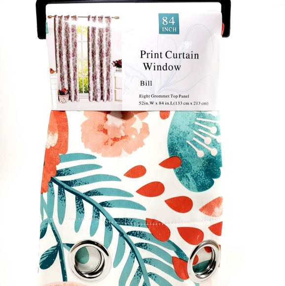 Other - Floral Print Curtains_2 Panels